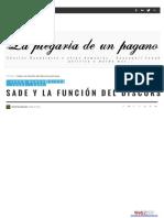 Baudelaire Viktor - Sade y La Funcion Del Discurso(1)