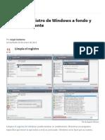 Limpiar El Registro de Windows a Fondo y Automáticamente