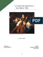 Tesina Di Storia e Analisi Dei Repertori I