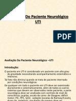 Avaliação Do Paciente Neurológico na UTI