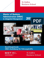 Master of Business Administration (MBA) in Integrated Management