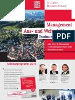 Management Aus- und Weiterbildung, Seminarprogramm 2018, St. Galler Business School