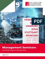 Management Seminare (Durchführungen in Deutschland), St. Gallen International Business School