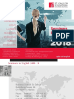 Seminars in English, St. Gallen International Business School