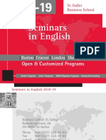 Seminars in English, 2018-2019, St. Galler Business School