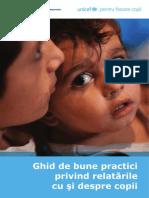 Ghid de Bune Practici Privind Relatarile Cu Si Despre Copii