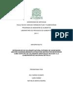 OBTENCIÓN DE UN COLORANTE NATURAL EXTRAÍDO DE CHONTADURO (BACTRIS GASIPAES) MEDIANTE EXTRACCIÓN ASISTIDA POR MICROONDAS COMO SUSTITUTO DE COLORANTES ARTIFICIALES APLICADO A LA ELABORACIÓN DE SALCHICHA DE POLLO