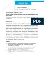 Secuencia Didáctila Cátedra Compartida Lengua y Literatura y Comunicación Cultura y Sociedad (1)