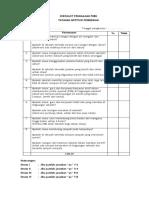 Checklist Pengkajian Phbs
