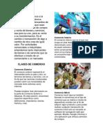 CLASES de COMERCIO y Clases de Industria