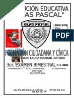 Tercer Bimestre Examen Bimestral Civica Tercero Secundaria