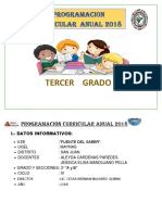 Programación Anual Tercer Grado Fuente Del Saber Grado 2018