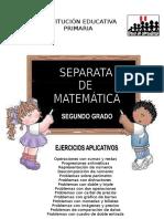 Separata de Matemática 2do Grado