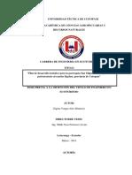 Universidad Técnica de Cotopaxi Unidad Académica de Ciencias Agropecuarias y Recursos Naturales Carrera de Ingenieria en Ecoturismo