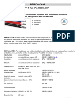 SOLAR CABLE 0,6-1 KV PV1-F Characteristics