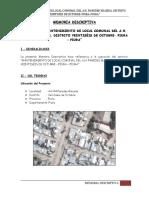 Memoria Descriptiva Local Comunal Paredes Maceda