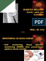 Diabetes Mellitus Dr Ertha