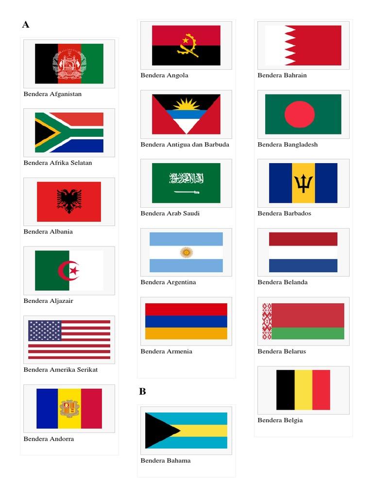 Kumpulan Bendera Negara Di Dunia
