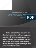 Soil Analysis and Piling