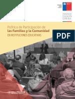 Política de Participación  de las familias en int. educativas