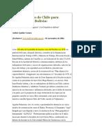 El Plan Secreto de Chile Para Desintegrar a Bolivia
