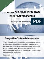 Sistem Manajemen Dan Implementasinya