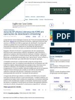 ConJur - Juíza de SP Afasta Cobrança de ICMS Em Download e Streaming