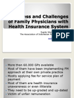 Readyness and Challenges of FP in Health Insurance System