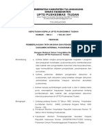 Contoh SK Pemberlakuan Pedoman Tata Naskah
