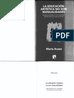 ACASO-La Educacion Artistica No Son Manualidades-COMPLETO--1