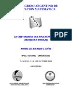 Xi Congreso Argentino de Educacion Matem