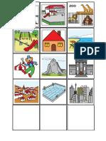 Campo semántico de Lugares 5x5