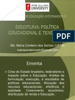 Slides - Politica Educacional