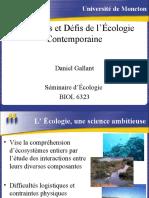 Présentation - Problèmes et Défis de l'Écologie Contemporaine - 2004