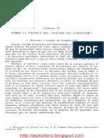 W. Reich - Análisis Del Carácter