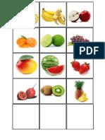 campo semántico de frutas