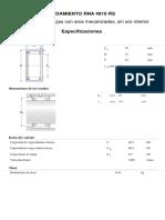 Rodamiento RNA 4910 RS