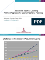 Coupling Simulation with Machine Learning:A Hybrid Approach for Elderly Discharge Planning