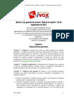 Ley General Bolivia Te EsperaBO-L-N292