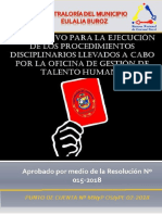 Instructivo Para Proc Sancionatorios Del Personal