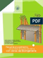 Manual de procedimientos para el manejo de procesos denudativos con obras de Bioingeniería