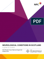 Neurological Conditions in Scotland a Guide for Funders NPC