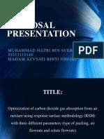 Proposal Presentation Hazri