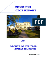 Growth of Heritage Hotels in Jaipur