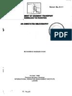 Sedimennt Transport Technology in Pak