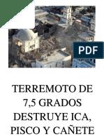 Terremoto en Ica