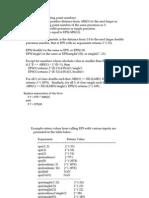 sobre eps (espacio para variables de punto flotante en matlab)