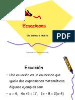 19.- Ecuaciones de Suma y Resta