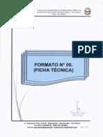 FORMATO N° 05 (FICHA TÉCNICA ESTANDAR PARA LA FORMULACIÓN DE PROYECTOS DE SANEAMIENTO EN EL AMBITO RURAL)