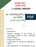Bwbs 3053 5. Fifth Topic Al Masyaqqatu Tajlibu Al Taisir.hydzul